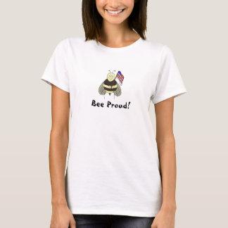 Chemise fière de T-shirt d'abeille lunatique… -