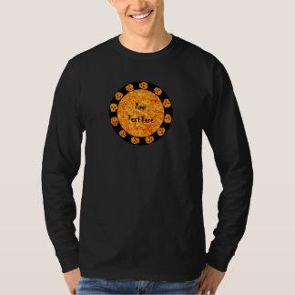 Chemise Flamme-Orange de crâne T-shirt