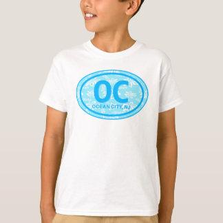 Chemise florale bleue d'étiquette de plage de la t-shirt