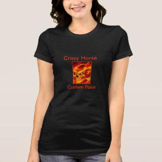 Chemise folle fraîche mauvaise de flamme de cheval t-shirt