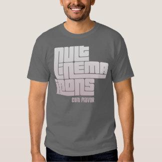 Chemise foncée de base d'icônes de cinéma de culte t-shirt