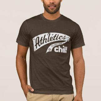 Chemise froide d'athlétisme t-shirt