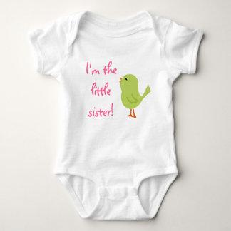 Chemise gaie d'oiseau de petite soeur body