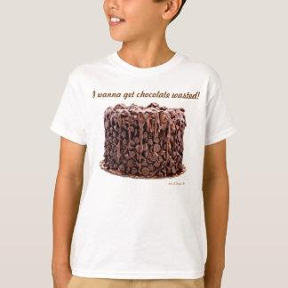 Chemise gaspillée par chocolat de la jeunesse de t-shirt
