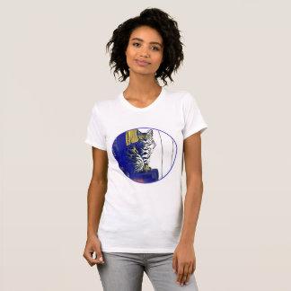 Chemise géniale de chat t-shirt