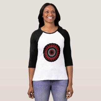 Chemise géométrique blanche rouge noire de t-shirt
