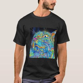 Chemise graphique de chat de T-shirt d'art Trippy