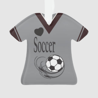 Chemise grise de ballon de football