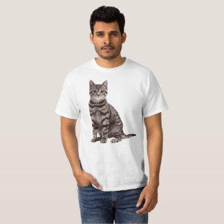 Chemise grise de chat tigré t-shirt