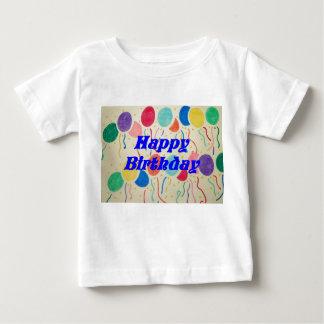 Chemise heureuse de bébé de ballons et de flammes t-shirt