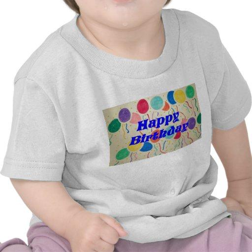 Chemise heureuse de bébé de ballons et de flammes t-shirts