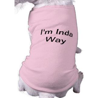 Chemise indigène drôle de chien t-shirt pour chien