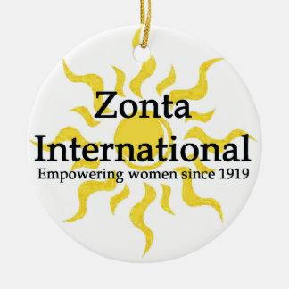 Chemise internationale de Zonta Sun Ornement Rond En Céramique