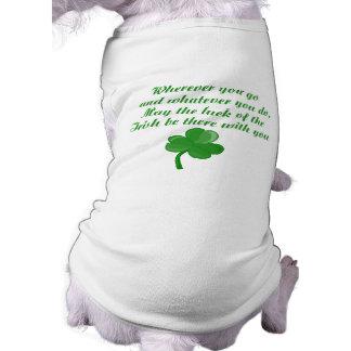Chemise irlandaise de chien de poème t-shirt pour chien