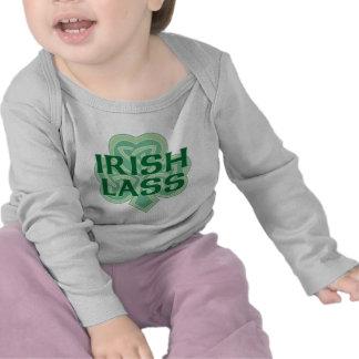Chemise irlandaise de nourrisson de jeune fille t-shirts
