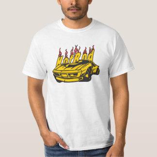 Chemise jaune de valeur de flammes de Hotrod T-shirts