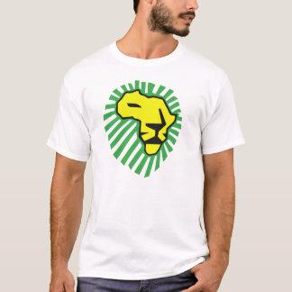 Chemise jaune de Waka Waka Afrique de crinière de T-shirt