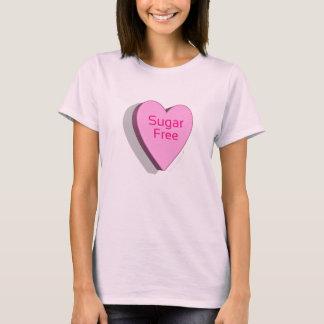 Chemise libre de coeur de sucrerie de sucre (rose) t-shirt