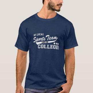 Chemise locale d'équipe de sports t-shirt