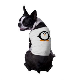 Chemise lunatique mignonne de pingouin pour des t-shirt pour chien