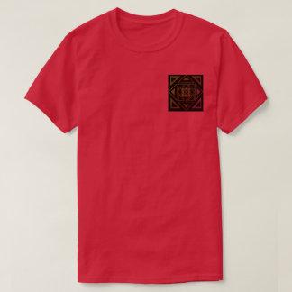 Chemise malade rouge de triangle t-shirt