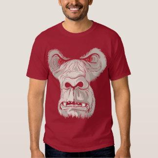 Chemise marron arrière brutale t-shirts