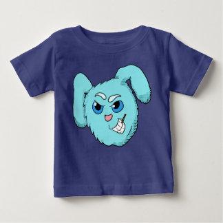 Chemise mauvaise bleue de tête de lapin t-shirt pour bébé