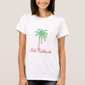 Chemise-Mele Kalikimaka de paume de Joyeux Noël T-shirt