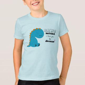 chemise mignonne de rawr de dinosaure t-shirt