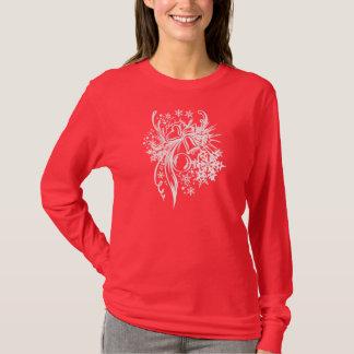 Chemise - Noël Bells décoratif et flocons de neige T-shirt