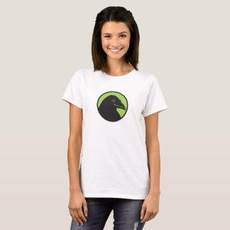 Chemise noire 1 de logo de bases de Raven T-shirt