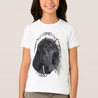 Chemise noire de beauté t-shirt