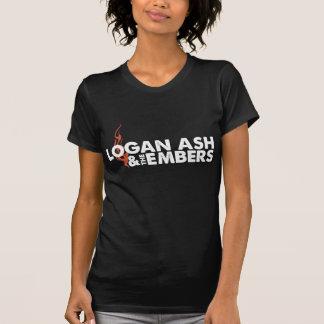 Chemise noire de la flamme de Ladie T-shirt
