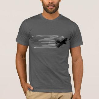 Chemise noire d'oiseau t-shirt