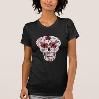 Chemise noire et rouge de crâne de sucre t-shirt