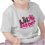 Chemise personnalisée par zèbre de rose de petite  t-shirt
