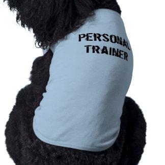 Chemise personnelle de chien d'entraîneur t-shirt pour chien