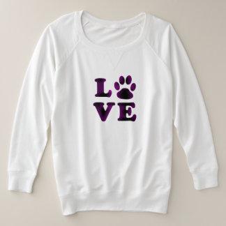 Chemise pourpre d'amour de chien ou de chat