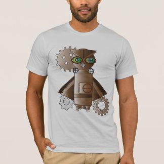 Chemise punk de hibou de robot de vapeur t-shirt