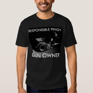 Chemise responsable de propriétaire d'arme à feu d t-shirt