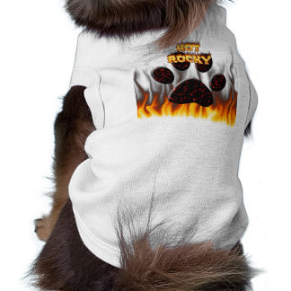 Chemise rocheuse chaude de chien du feu et de flam manteaux pour toutous