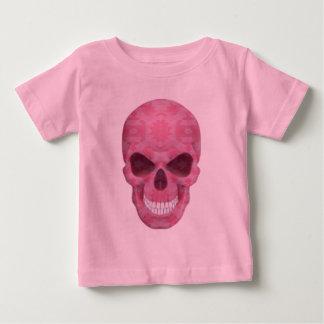 Chemise rose de crâne de camouflage t-shirt pour bébé