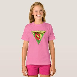 Chemise rose de filles d'arts martiaux de t-shirt