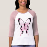 chemise rose et noire de papillon t-shirt