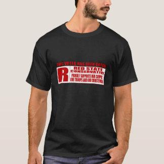 Chemise rouge de conservateur d'état t-shirt