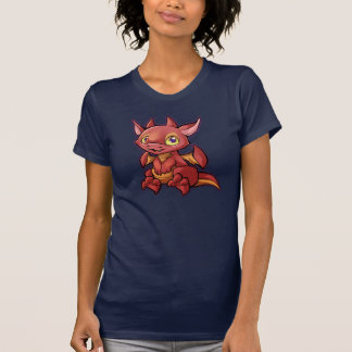 Chemise rouge de dragon de Chibi T-shirt