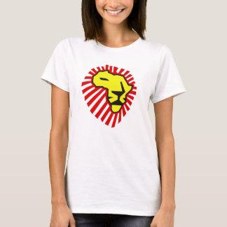 Chemise rouge de l'Afrique de lion de jaune de T-shirt