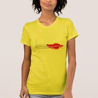 Chemise rouge de plume t-shirt