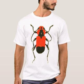 Chemise rouge de scarabée t-shirt