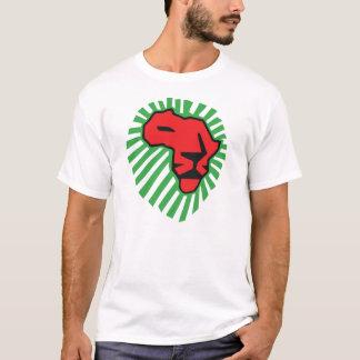 Chemise rouge de Waka Waka Afrique de crinière de T-shirt